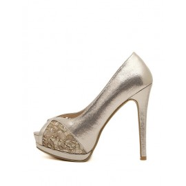 Socialite Sequins Detail Peep Toe Stiletto Heels