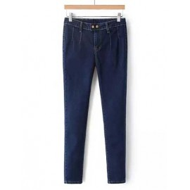 All Matched Slinky Stretchy Denim Pencil Pants Size:S-L