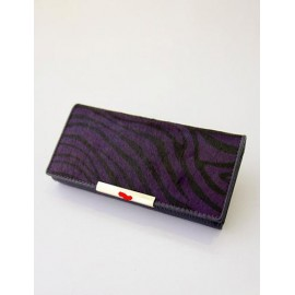 Trendy Zebra Striped Printed Clutch with Metal Bar