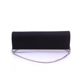 Simplicity Metal Embellished Rectangle Finalize Clutch Bag