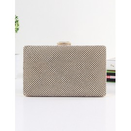 Elegant Diamante Finalize Chain Shoulder Evening Bag