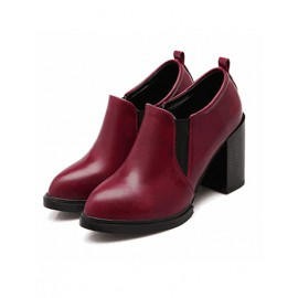 England Pointe Toe Chunky Ankle Boots in Elasitic Trim Size:34-39