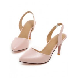Fashion Point Toe Strap Stiletto Heels in Pure Color Size:34-39
