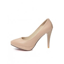 Gorgeous Point Toe Platform Heels in Pure Color Size:34-39