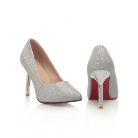 Shiny Glittering Point Toe Stiletto Heels Size:34-39