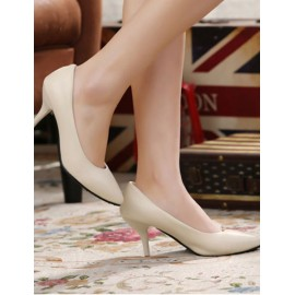 Simplicity Pointed Toe Heel Shoes in Pure Color Size:34-39