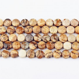 Lin Xiang New Product Picture Stone Natural Beads