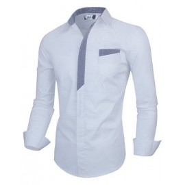 Stylish Slim Fit Casual Shirt with Contrast Panel
