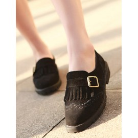 Casual Tassel Detail Buckle Embellished Shoes Size:35-39