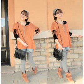 Women's Tassel Shoulder Bag Cross Handbag 2015 Fashion Lady Women New Arrival
