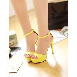 Classic Ankle Strap Stiletto Sandals in Platform Size:34-39