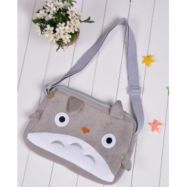 New Arrival Cartoon Plush Gray Bag Cat Soft Short Purse Cute Shoulder Short