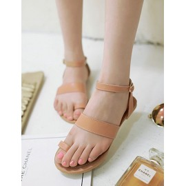 Preppy Buckle Thong Sandals in Flat Heel Size:34-39