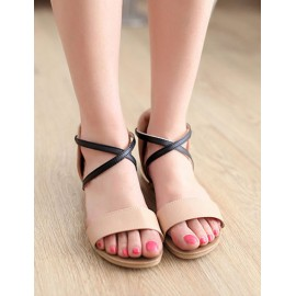 Simplicity Bandage Buckle Sandals in Flat Heel Size:34-39