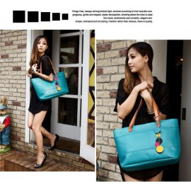 New Hot Sale! New Lady Candy Color Totes Fashion Leather Cute Shoulder Bag For Women Shopping Bag Handbag
