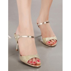 Glam Stiletto Pure Color Maryjane Slipper with Peep-Toe Size:34-39