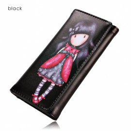 Stylish Ladies Korean Style Synthetic Leather Wallet Card Holder Cute Print Ractangle Purse