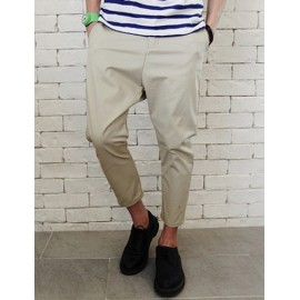 Summer Trendy Ankle-Length Pants in Pure Color For Men
