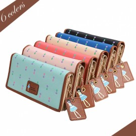 Fashion Lady Women Synthetic Leather Clutch Wallet Long Card Holder Case Purse Handbag 6 Colors