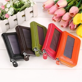 Mens/Womens Fashion Mini Synthetic Leather Wallet ID Credit Cards Holder Organizer Purse
