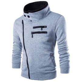 Trendy Zipper Detail Jacket with Fleece Lining