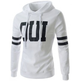 Active Letter Print Slim Fit Hoody