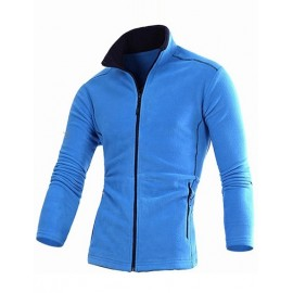 Sporty Slim Fit Zipper Polar Fleece Sweatshirt