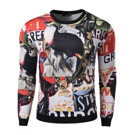 Fantastic 3D Birds Print Long Sleeve Sweatshirt for Men