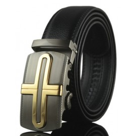 Fashion Alloy Automatic Buckle Faux Leather Belt