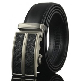Retro Style Alloy Buckle Leather Belt For Men