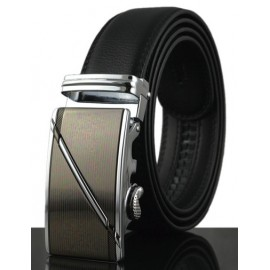 Simple Style Automatic Alloy Buckle Belt For Men