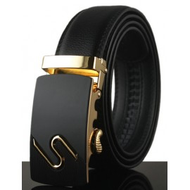 Special Style Alloy Inlay Buckle Leather Belt