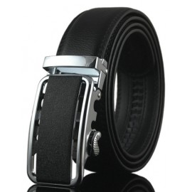 Simple Hollow Out Alloy Buckle Leather Belt For Men
