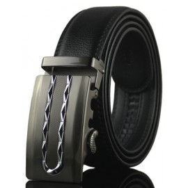 Cool Chain Style Inlay Buckle Leather Belt For Men