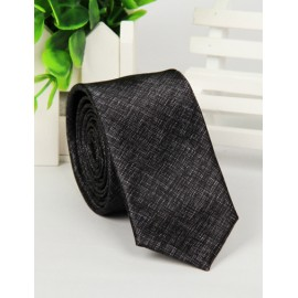 Simple Pure Color Skinny Neck Tie with Arrow Shape