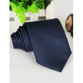 Modish Contrast Color Stripe Pattern Neck Tie with Arrow Shape