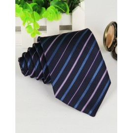 Urban Slanted Stripe Printed Neck Tie with Jacquard Pattern