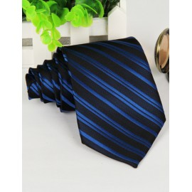 Business Two Tone Slanted Stripe Neck Tie with Arrow Shape