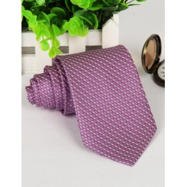 Luxury Polka Dots Jacquard Pattern Neck Tie with Arrow Shape
