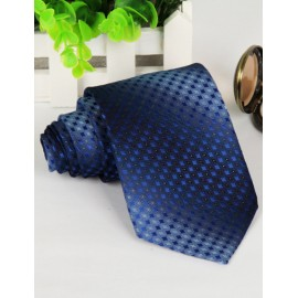 Korean Two Tone Mini Checked Jacquard Neck Tie with Arrow Shape