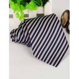 Modern Slanted Stripe Pattern Neck Tie in Assorted Color