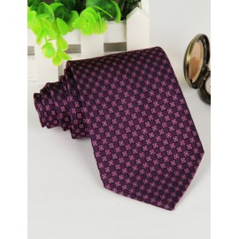 Modish Floral Printed Checked Pattern Neck Tie with Arrow Edge