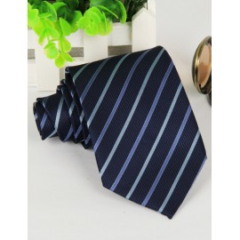 Concise Slanted Stripe Pattern Neck Tie in Pointy Edge