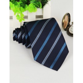 Concise Slanted Stripe Pattern Neck Tie with Arrow Edge