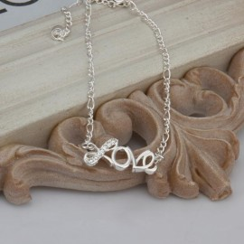 A001 Free Shipping New Design Large Stock Delicate Handmade Cheap Silver Plated Anklet Bulk Sale
