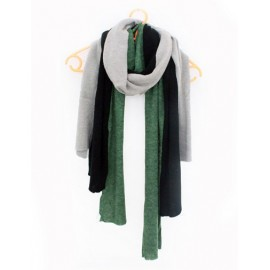 England Asymmetric Trim Scarf with Three Color Matching