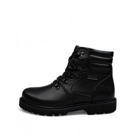 Cool Lace-Up Round Toe Lace-Up Martin Boots with High-Top