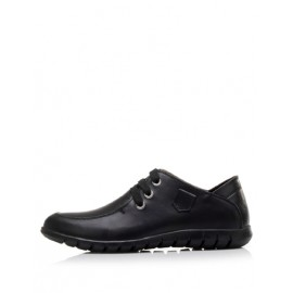 Concise Lace-Up Dress Shoes with Almond Toe