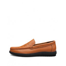 Comfy Hollow-Out Dress Shoes with Square Toe