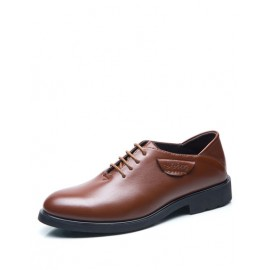 Seductive Polished Round Toe Lace-Up Dress Shoes